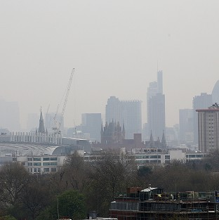 The London skyline, as London Ambulance Service reported a rise in people calling 999 for help with breathing difficulties and asthma