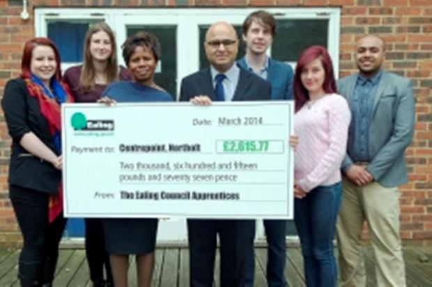 Cheque us out: apprentices hand over their cash
