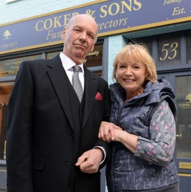 Ealing Times: Les Coker (Roger Sloman) and Pam Coker (Lin Blakley), who are joining EastEnders as undertakers.