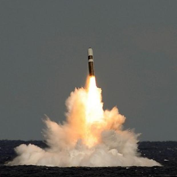 Ealing Times: An unarmed Trident ballistic missile fired from HMS Vigilant during a test launch