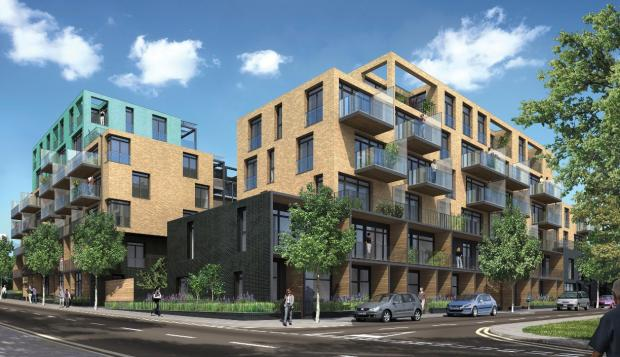 Artist's impression of Liberty Quarter, South Acton