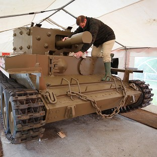 D-Day tank restored for anniversary