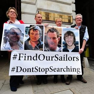 Ealing Times: Relatives of the missing yachtsmen pressed for the search to continue