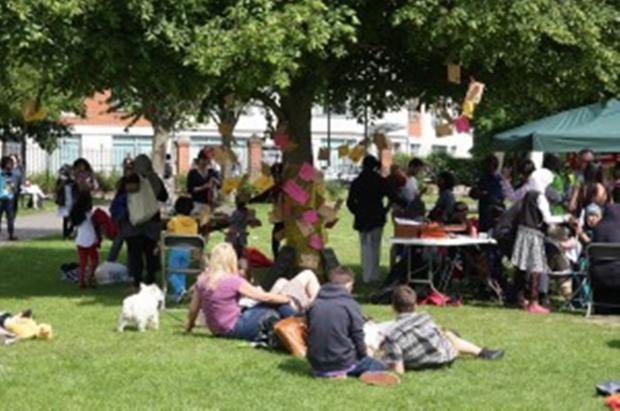 Bringing people together: a scene from last year's Ealing Big Lunch