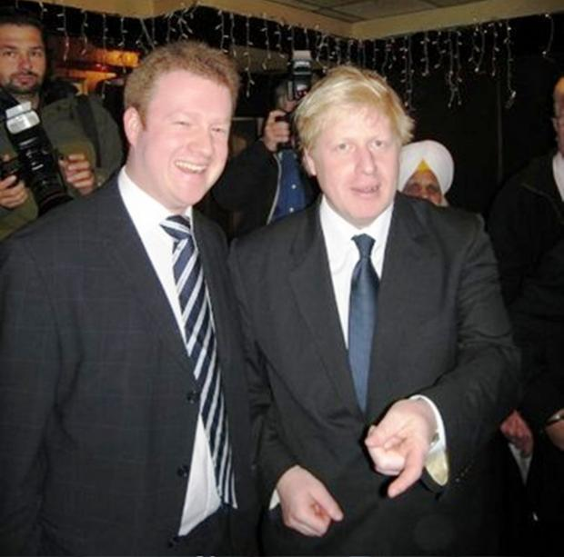 New leader: Cllr Stafford with London Mayor Boris Johnson
