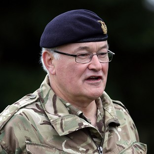 Head of the Army General Sir Peter Wall has warned against any more cuts