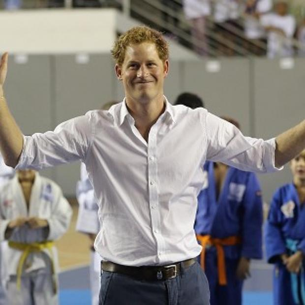 Ealing Times: Prince Harry plays basketball in Belo Horizonte on the second day of his tour of Brazil