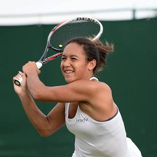 Great Britain's Heather Watson is on Centre Court