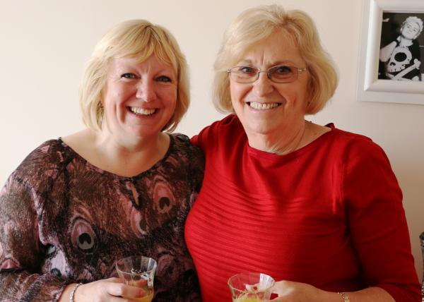 Coffee and chat: the site prompted a regular coffee morning for Wendy Felstead and friends