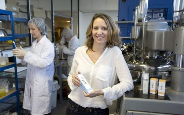 Pai founder Sarah Brown with staff at the firm's laboratory