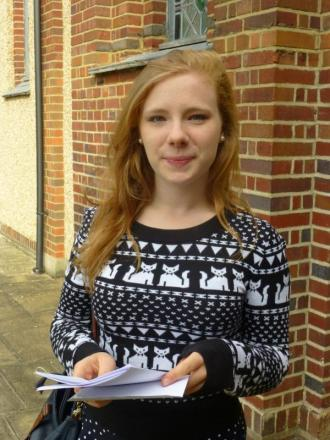Great results: Rebecca Graham, going on to study at East Anglia