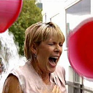 This Morning presenter Ruth Langsford is doused with ice and water