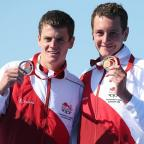 Ealing Times: Jonathan Brownlee, pictured left, beat his brother Alistair, right, in Stockholm