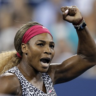 Serena Williams stayed on track for a third consecutive title at the US Open (AP)