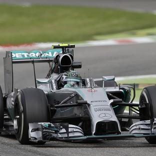 Nico Rosberg, pictured, and Lewis Hamilton secured a one-two finish during FP2 at Monza