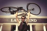 Fitness fanatic: Tony has also cycled the length of the country