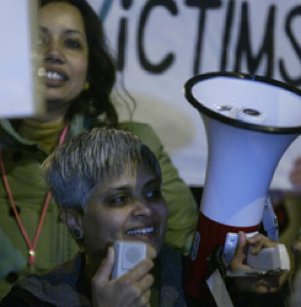Members of the Southall Black Sisters protesting against the council's decision