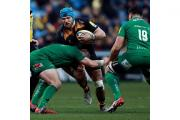 James Haskell helped Wasps defeat London Irish in their first game at the Ricoh Arena