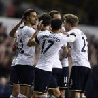 Ealing Times: Nacer Chadli, left, opened the scoring at White Hart Lane