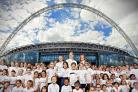 Starry-eyed: youngsters had a day to remember at Wembley for the launch of the SSE Women's FA Cup launch