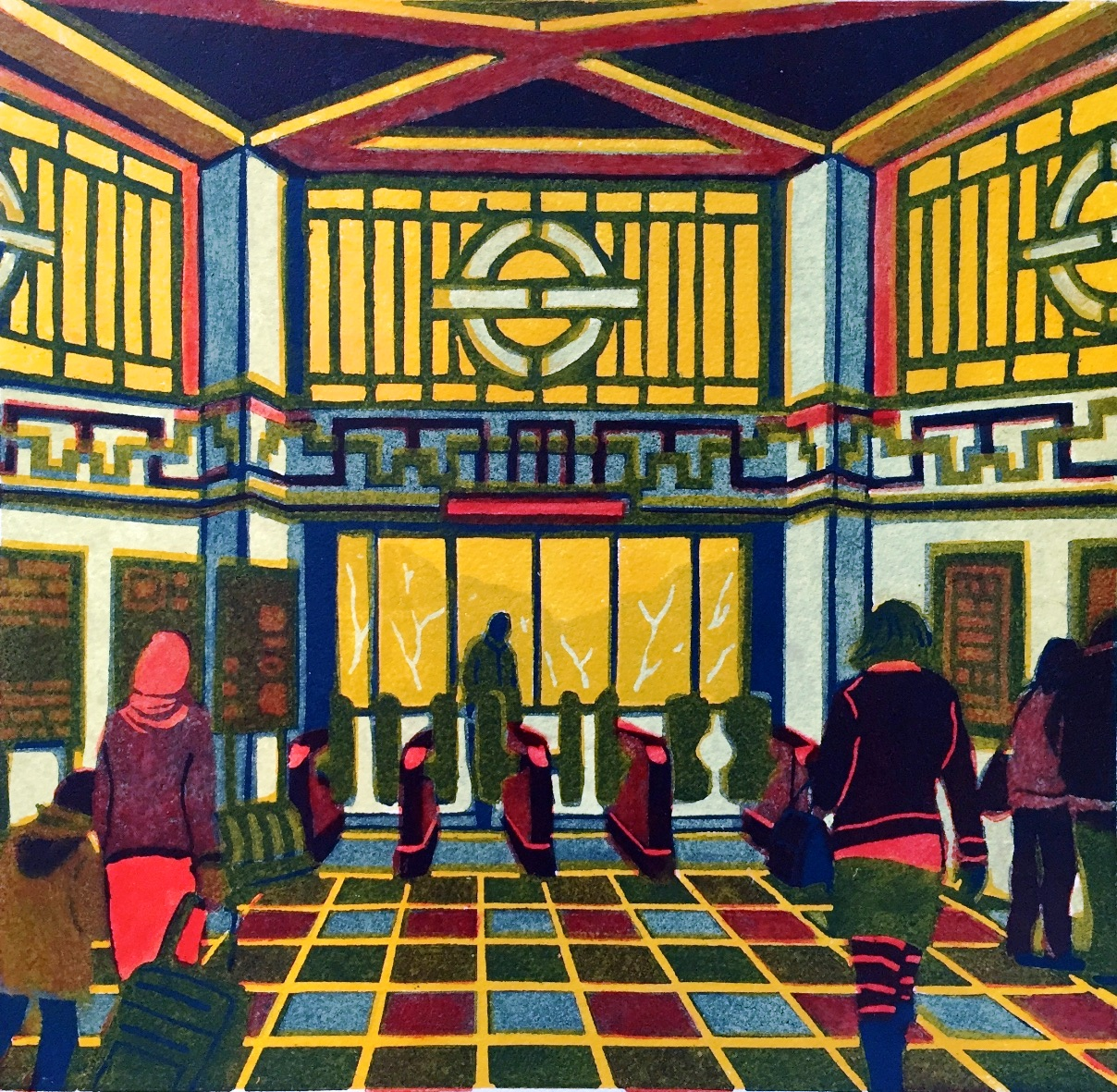 Regal print: Gail Brodholt's print from Ealing Common station