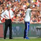 Ealing Times: Arsene Wenger, left, suggested a lack of respect was behind his decision to snub Jose Mourinho