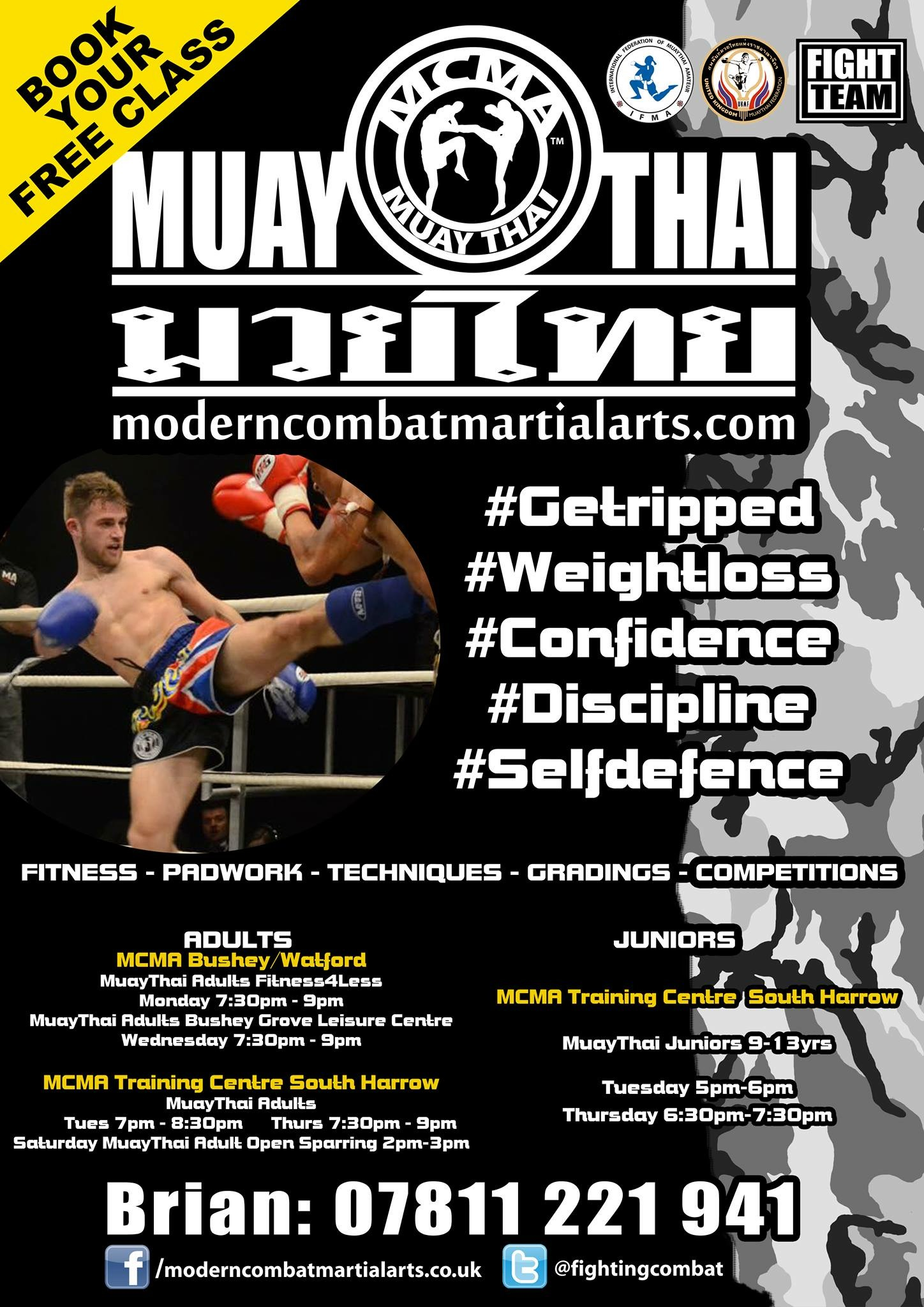 MCMA Muaythai Boxing Junior and Adult Classes South Harrow