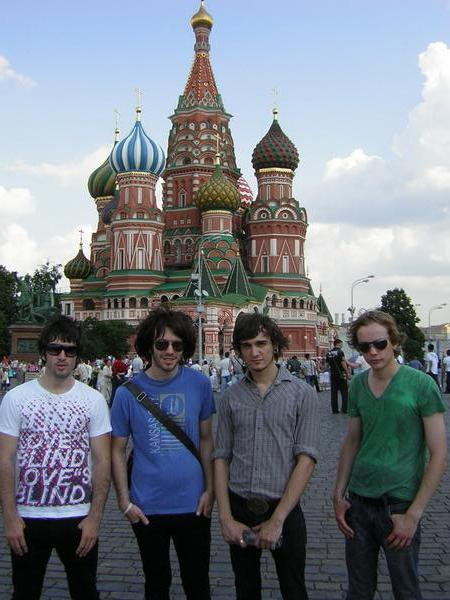 The lads in Red Square