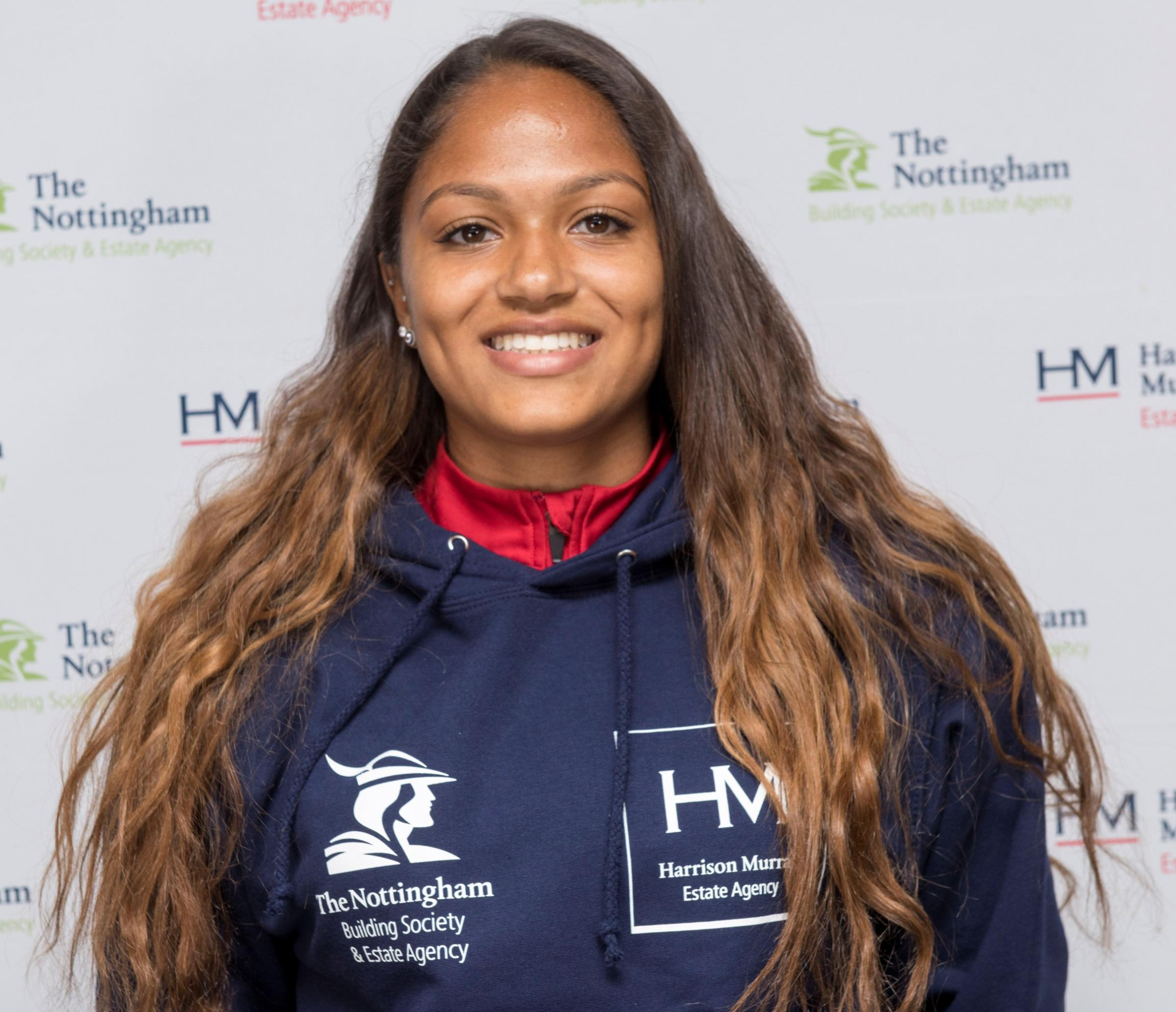 Taylor Hinds is supported by The Nottingham Building Society