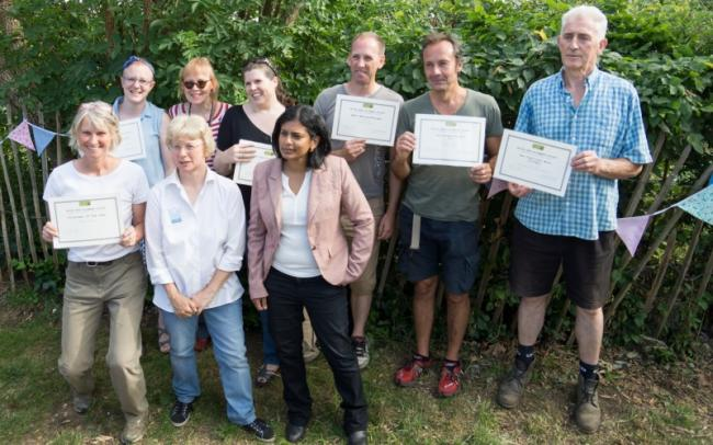 MP Rupa Huq at Northfields Allotments' summer open day