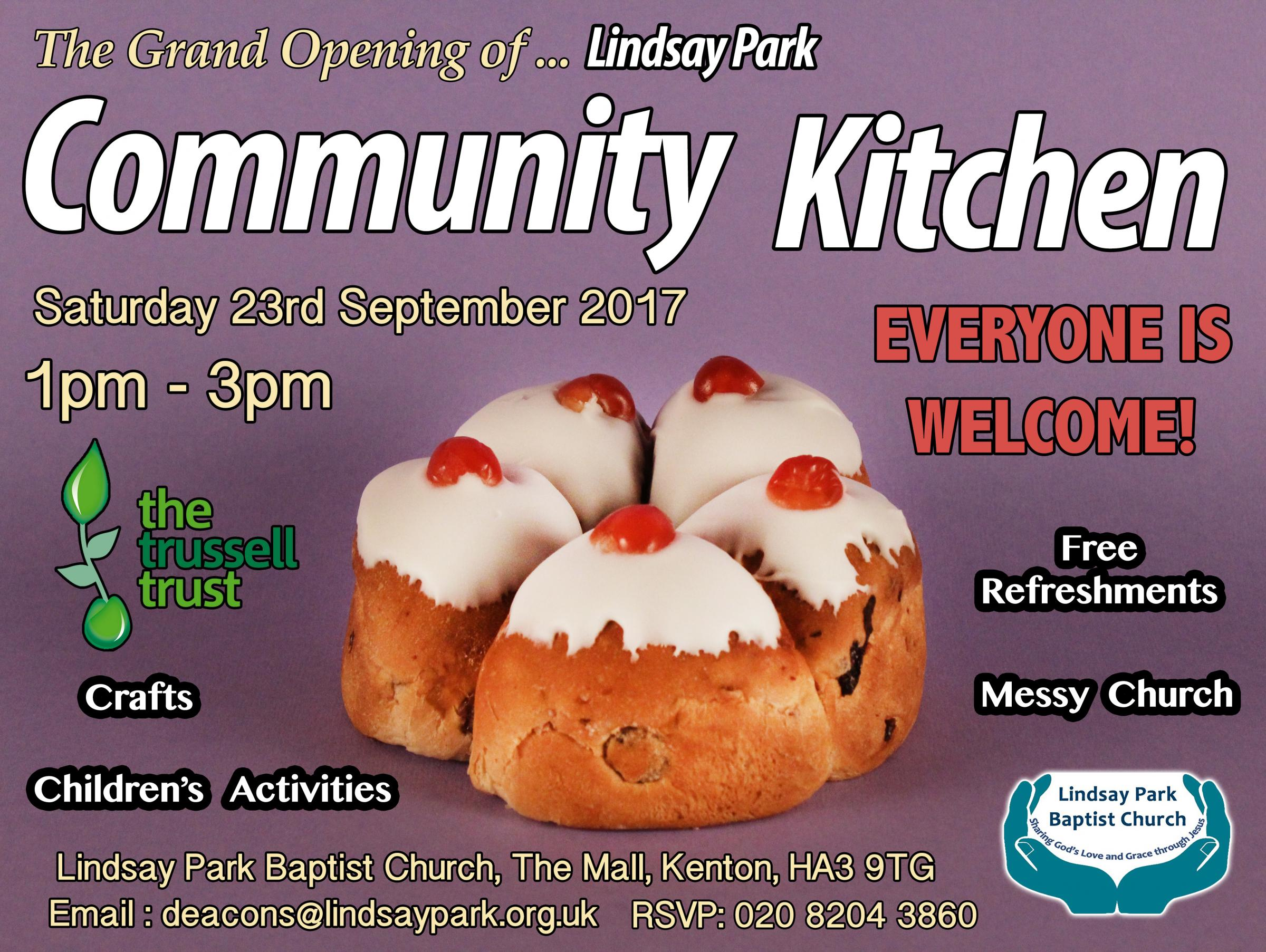 The Grand Opening of Lindsay Park Commumity Kitchen