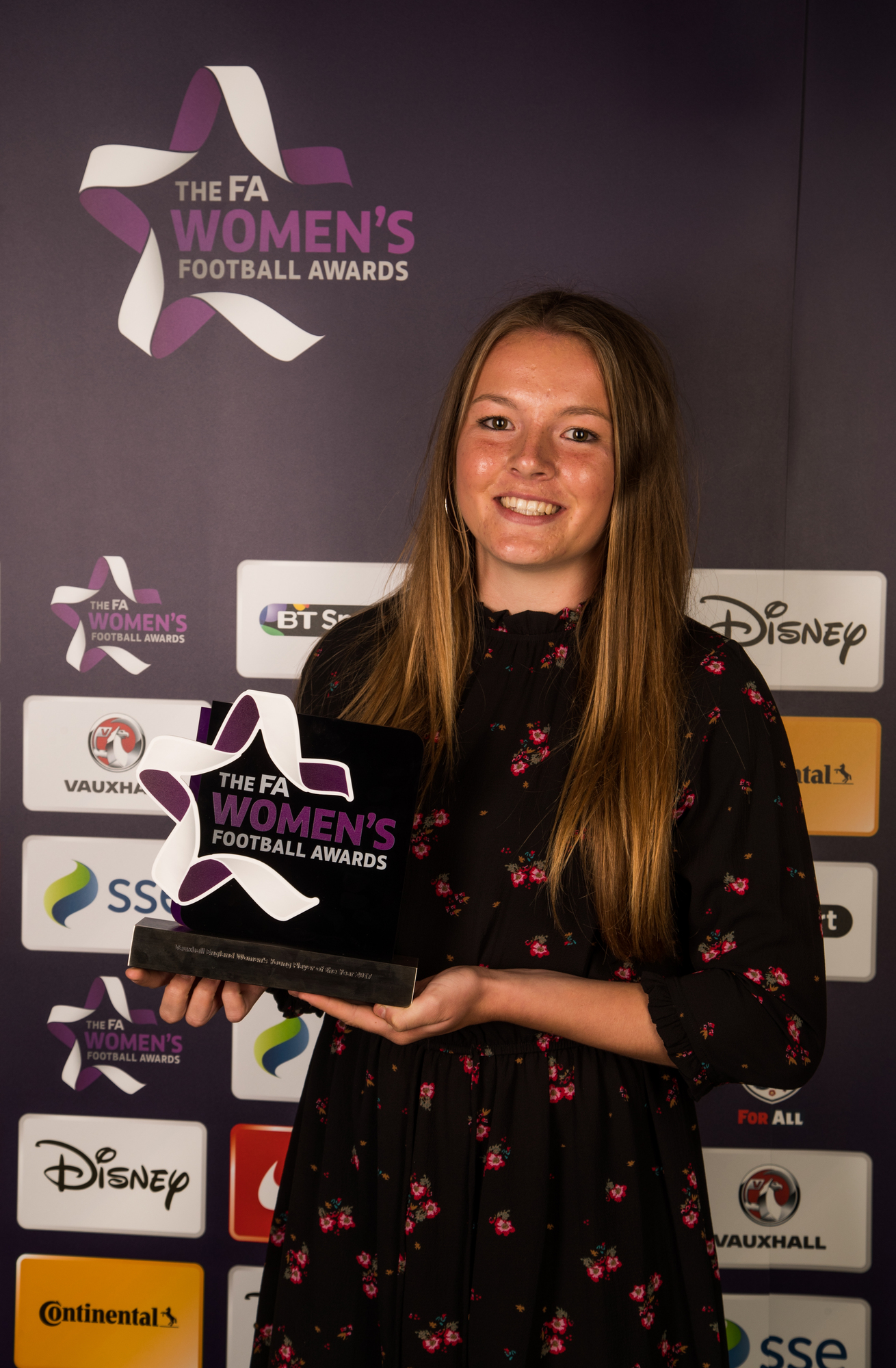 Lauren Hemp claimed her prize at the FA Women's Football Awards in central London