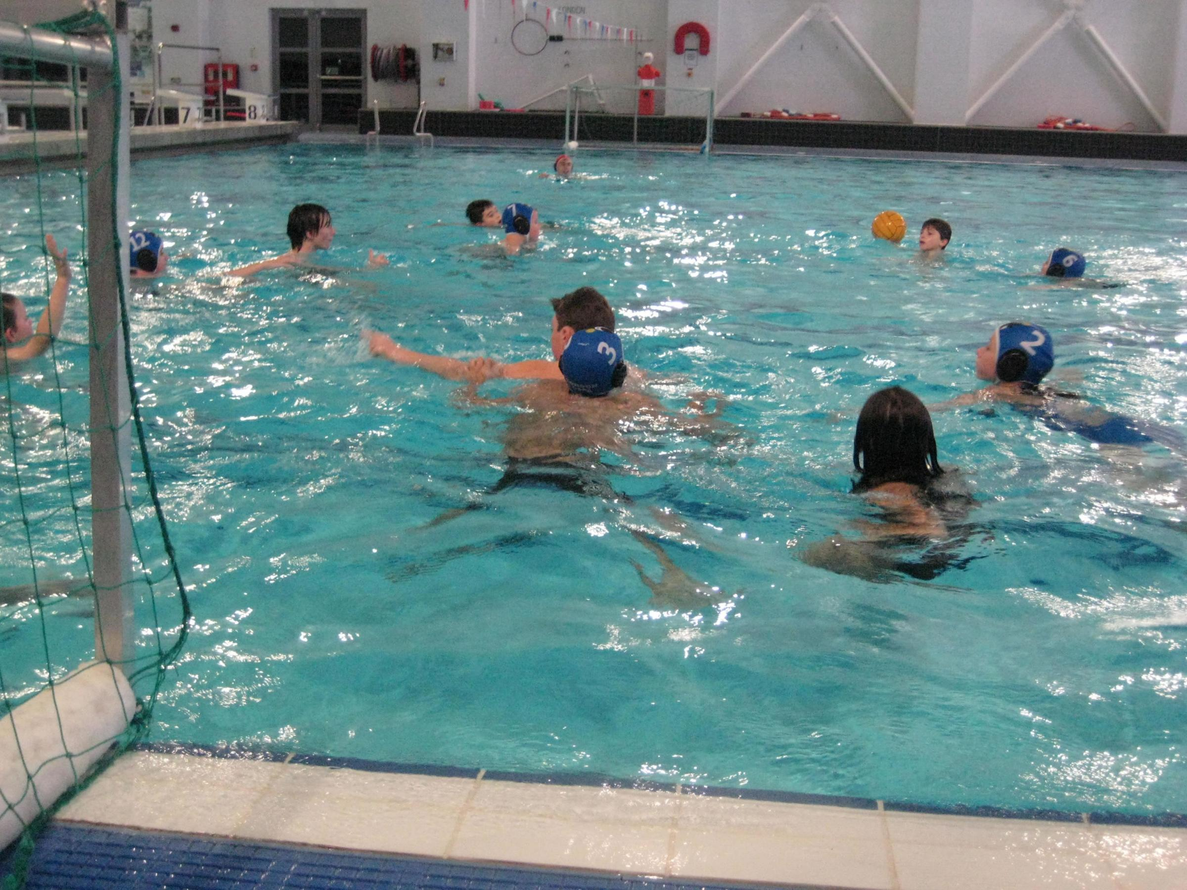 Junior Water Polo at Uxbridge Pool