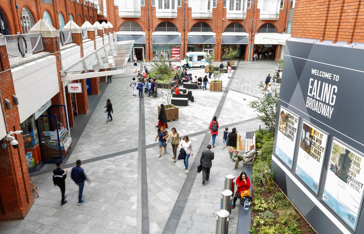 Centre of activity: Ealing Broadway will be busy with Mother's Day shoppers