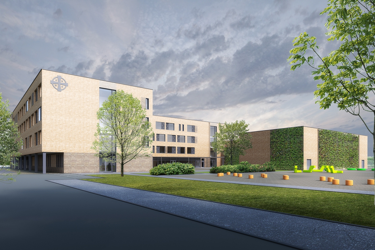 Under scrutiny: artist's impression of the school