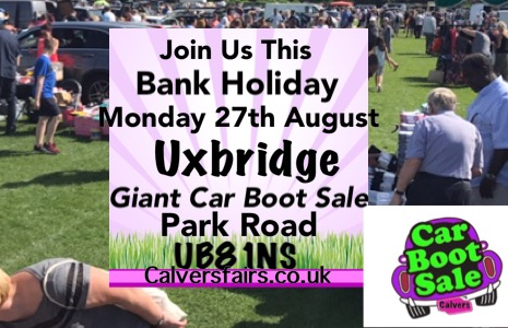 Uxbridge  Giant Bank Holiday Monday  Car Boot Sale