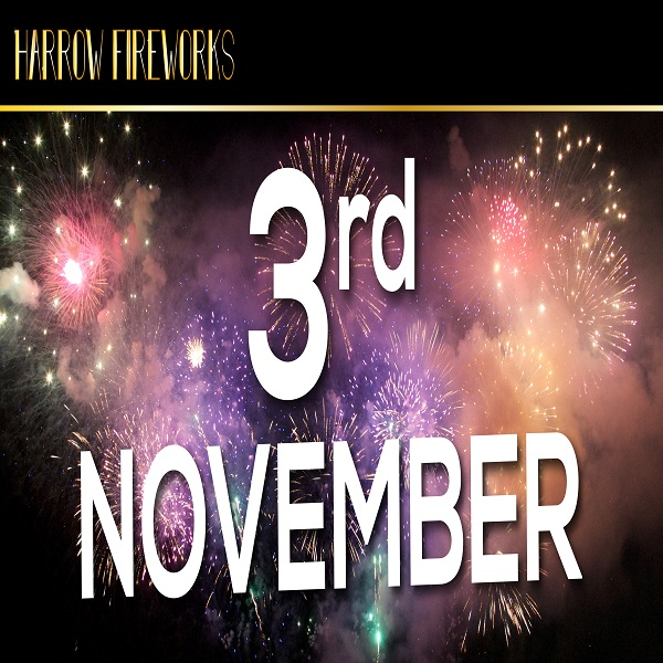 Harrow Fireworks Display, Saturday 3rd November 2018 (celebration of culture)