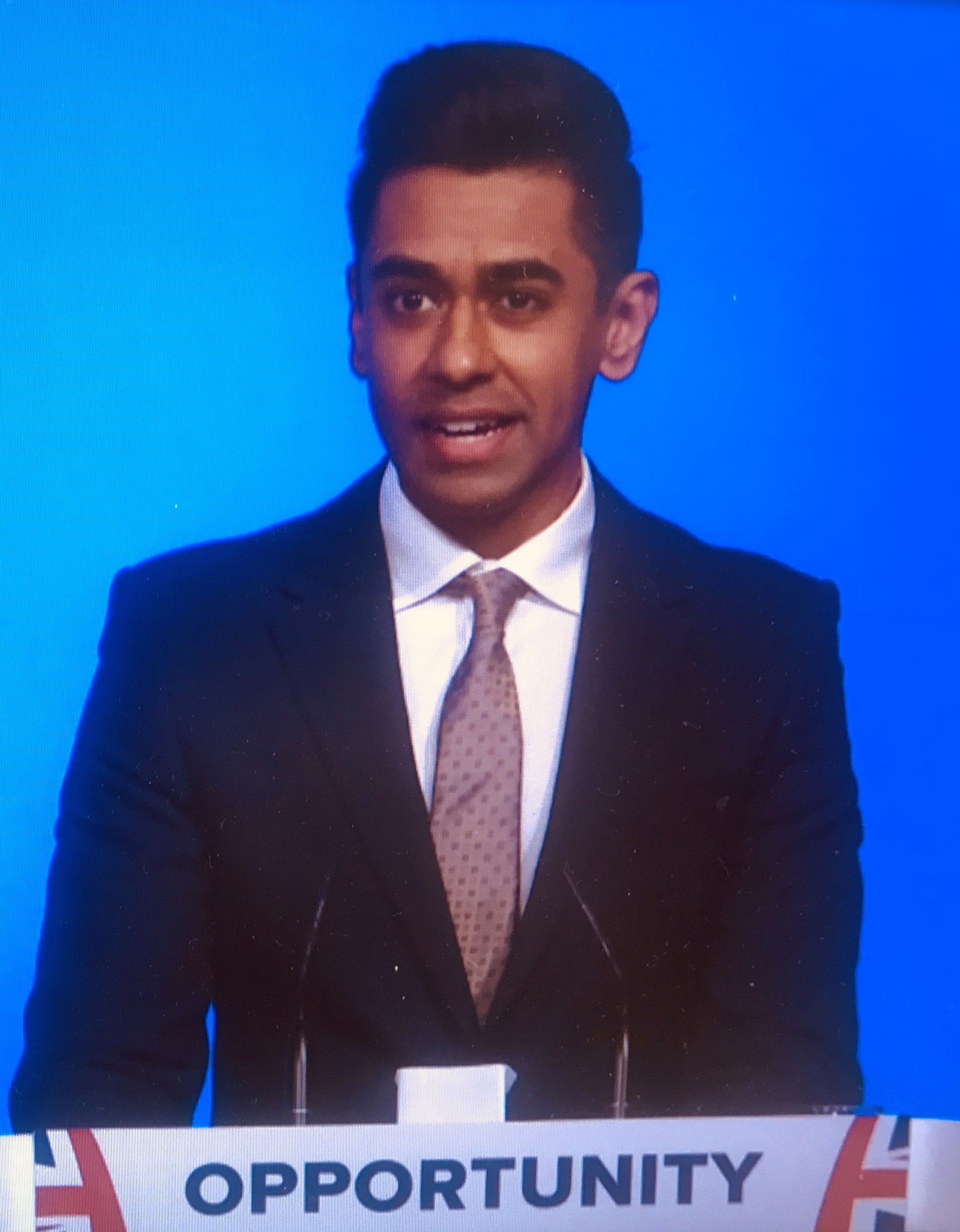 Cllr Ameet Jogia at the Conservative Party Conference