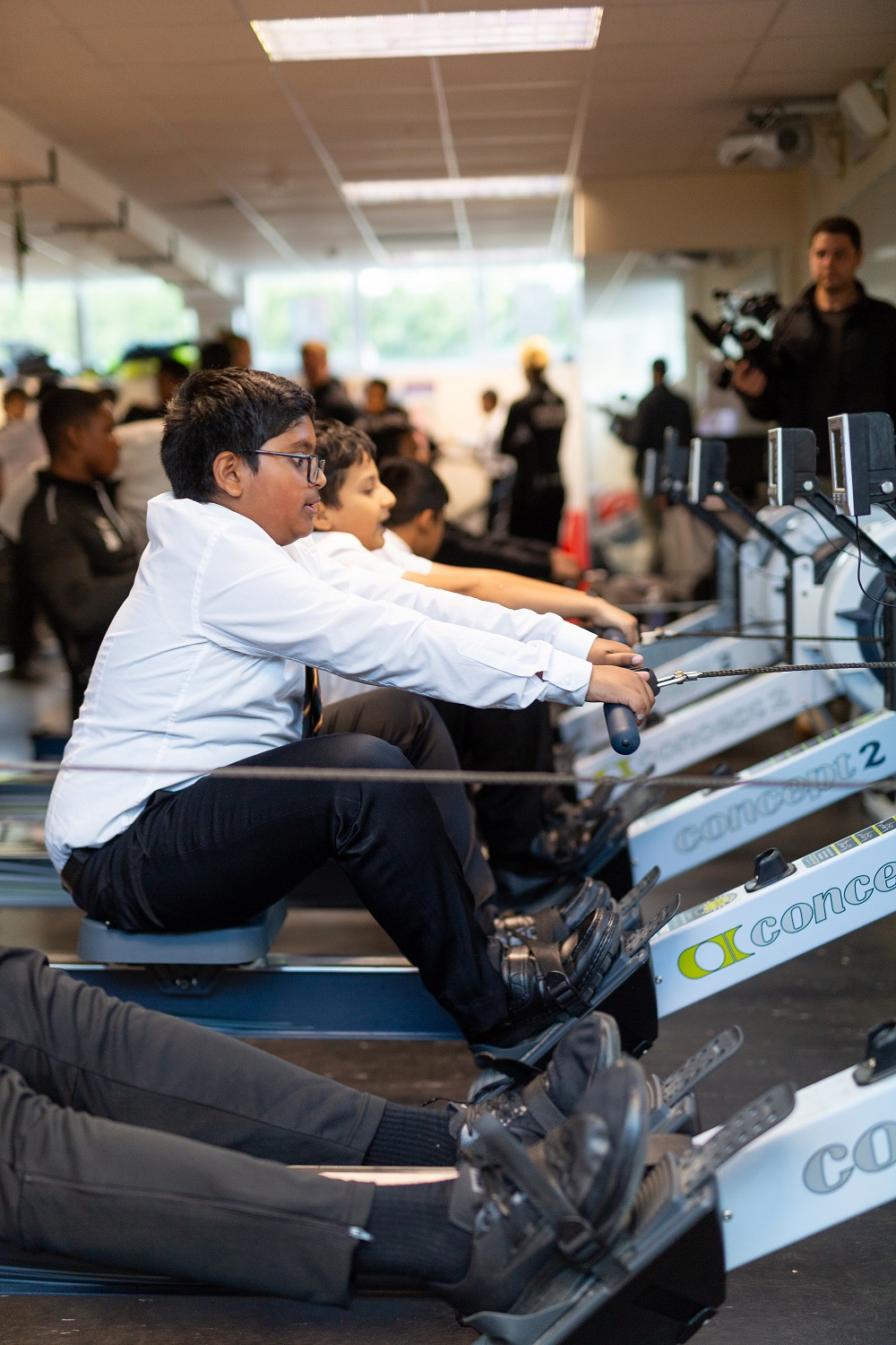 Students from Stepney Green took on a rowing challenge