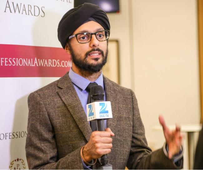 Honoured: Param Singh for bringing together Sikhs and non-Sikhs