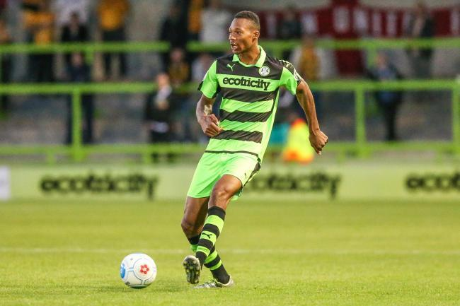 Ethan Pinnock, pictured playing for Forest Green Rovers