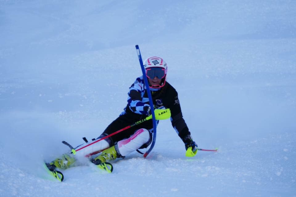 The 13-year-old honed her skills at Pendle Ski Club, the same as her hero Ryding