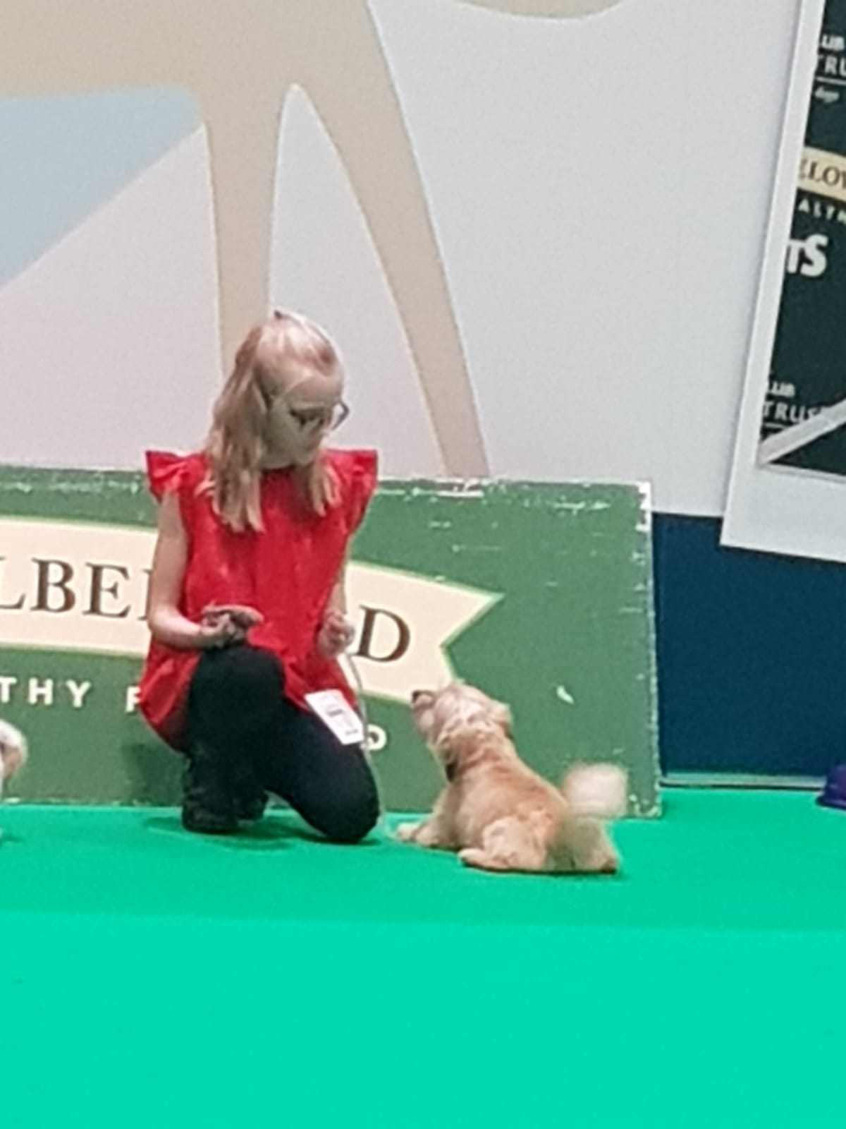 Amelia Wright with her mixed breed terrier Pippin