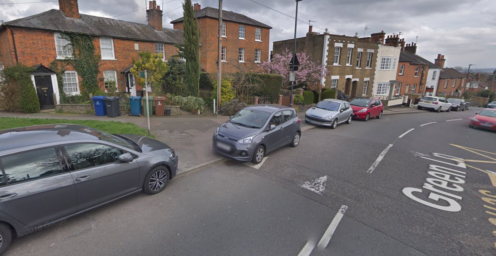 Green Lane in Stanmore, with several cars parked on the kerb (Image: Google Maps)