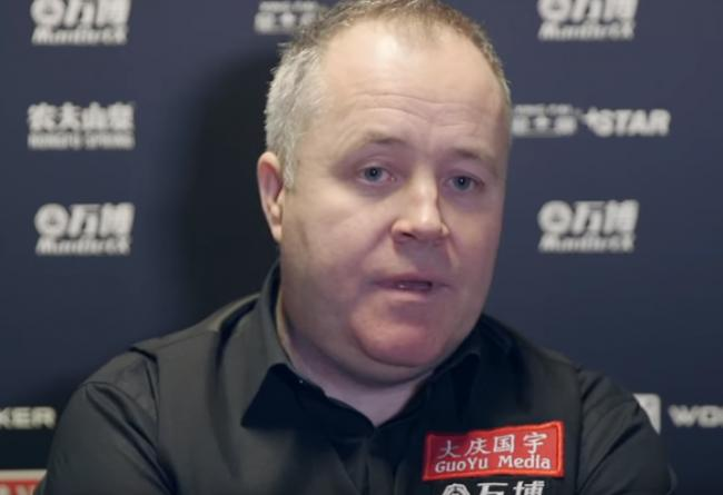 John Higgins was a relieved man after he booked his place in round two of the 19.com Scottish Open in Glasgow