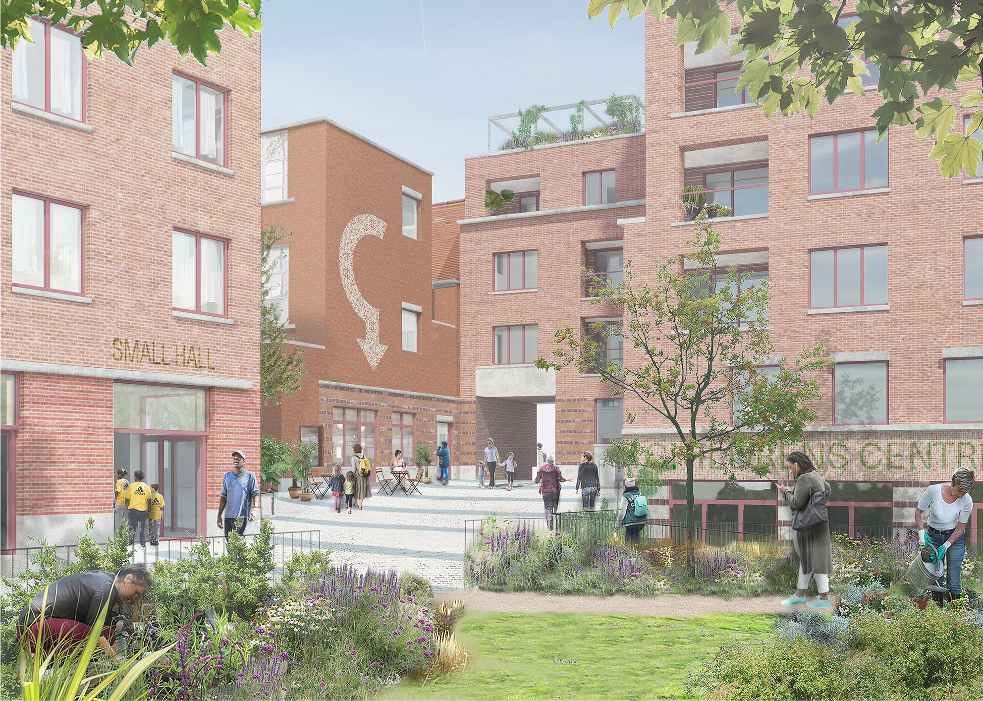 An artist's impression of the new development (Image: Brent Council)