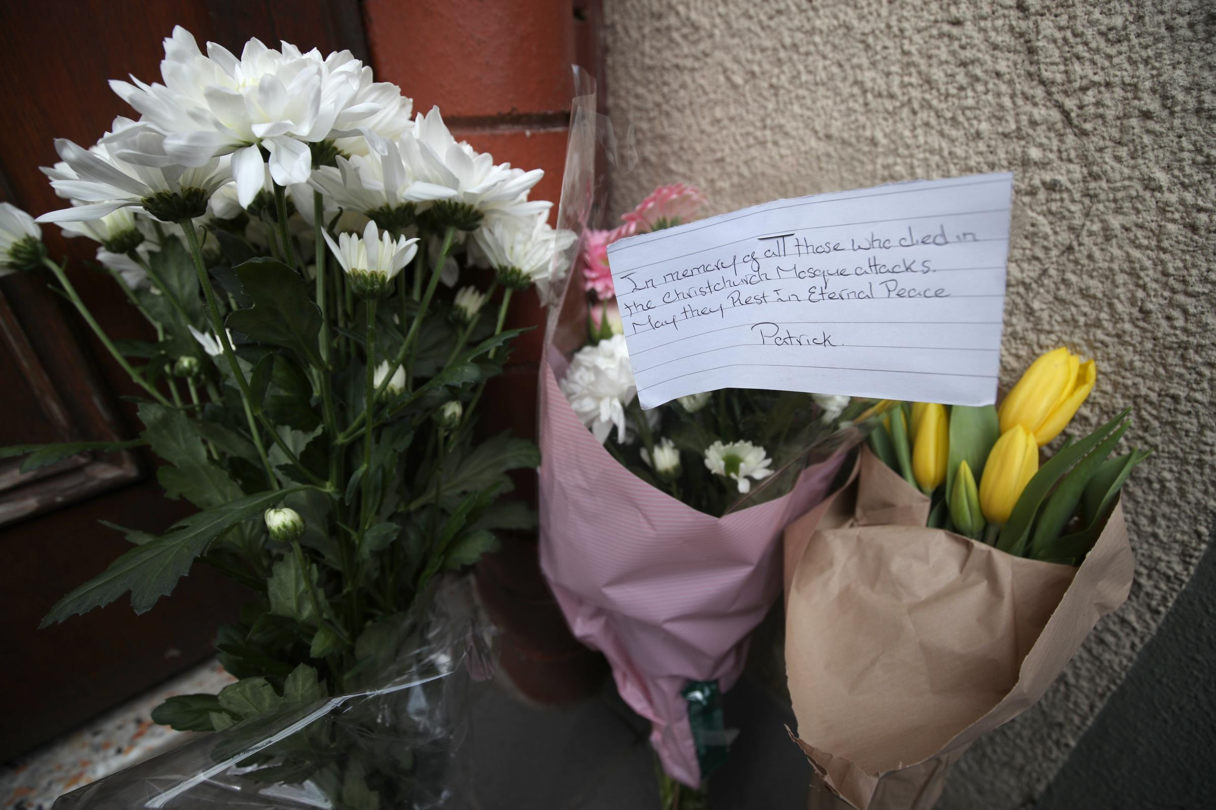 Flowers at Finsbury Park Mosque in London