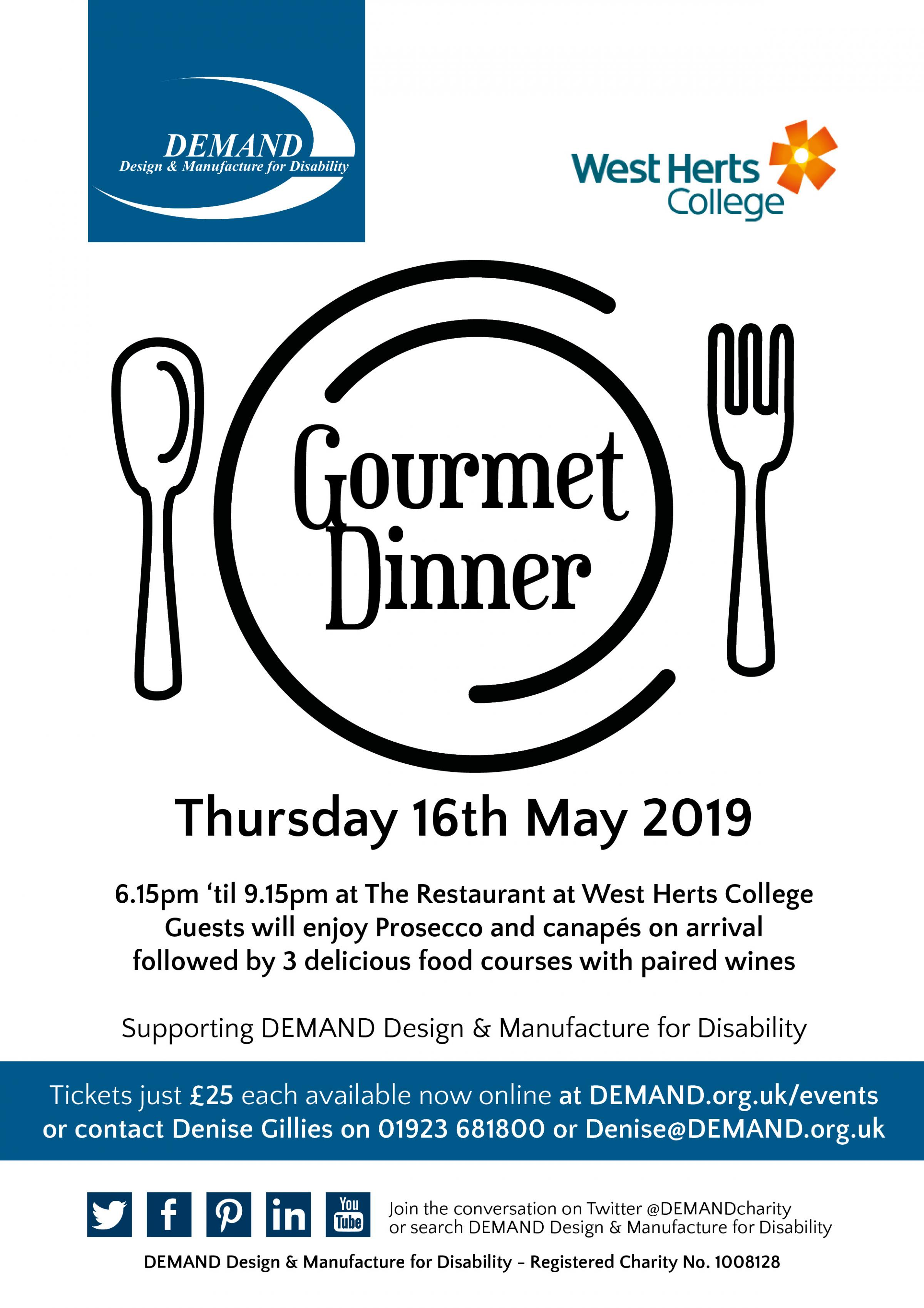 Charity Gourmet Dinner