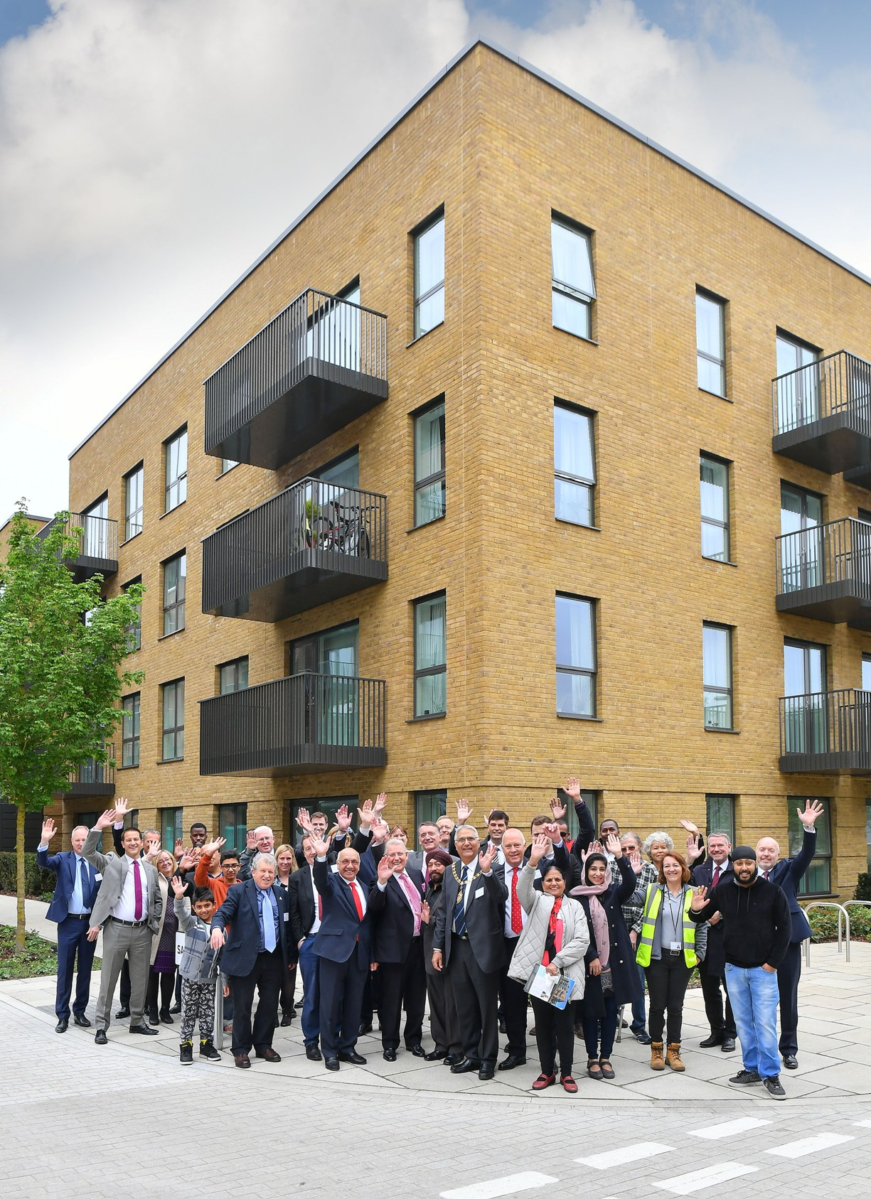 First of many: initial residents are welcomed to the former gasworks site